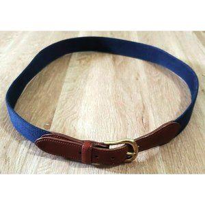 Coach Mens 3880 Surcingle Blue Woven Belt SIze 40